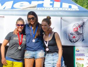 K1W - Downriver sprint podium